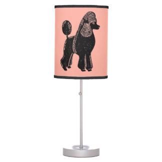 Lámpara de mesa atractiva negra del melocotón de