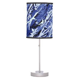 Lámpara de mesa azul del camuflaje