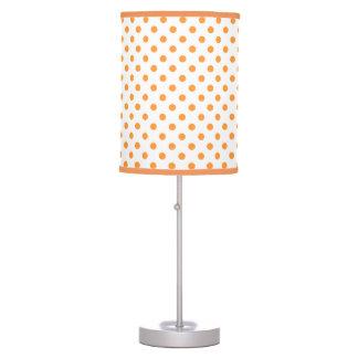Lámpara de mesa blanca anaranjada de los lunares