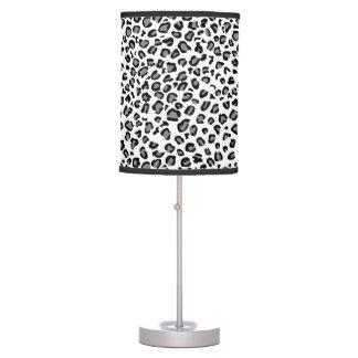 Lámpara de mesa blanca del leopardo