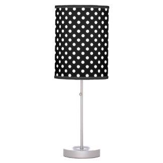 Lámpara de mesa blanca negra de los lunares