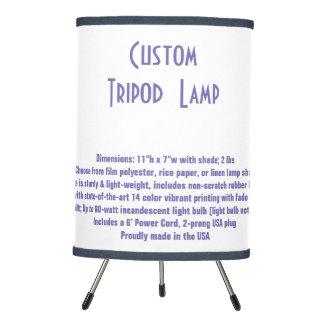 Lámpara de mesa casera de encargo