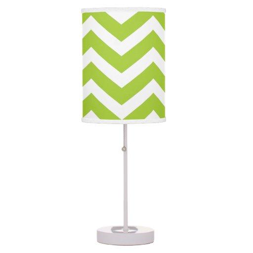 Lámpara de mesa de Chevron de la verde lima