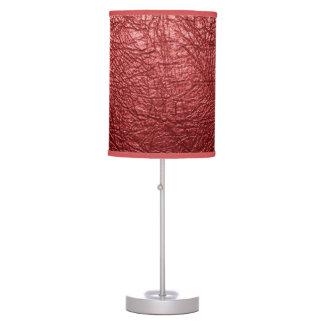 Lámpara de mesa de cuero roja de la textura