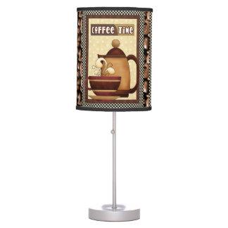 Lámpara de mesa de la cocina del tiempo del café