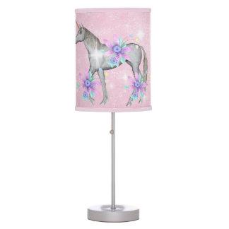 Lámpara de mesa de la fantasía del unicornio