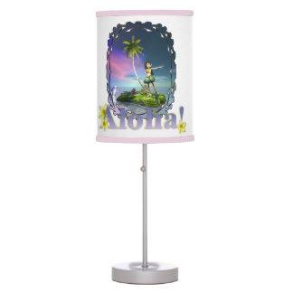 Lámpara de mesa de la hawaiana de Loihi Hula