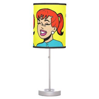 Lámpara de mesa de la historieta de las risitas
