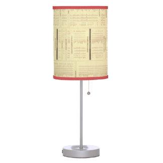 lámpara de mesa de la impresión de las noticias