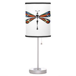 Lámpara de mesa de la libélula del vitral