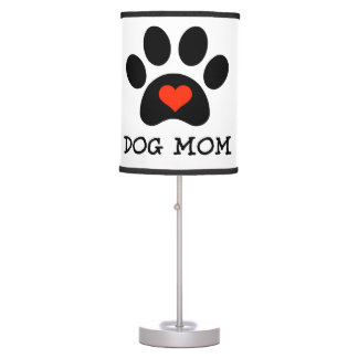 Lámpara de mesa de la mamá del perro de Pawprint