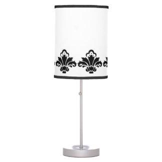 Lámpara de mesa de la mirada del damasco