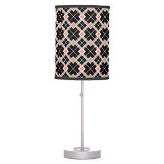 Lámpara de mesa de la tela escocesa (blanco