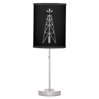 Lámpara de mesa de la torre de perforación de acei