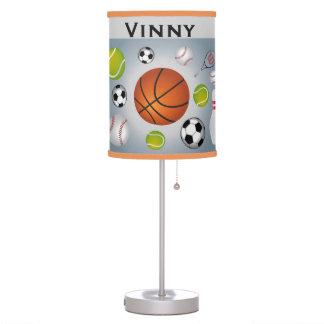 Lámpara de mesa de las bolas del deporte