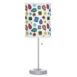 Lámpara de mesa de las piedras preciosas