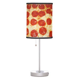 Lámpara de mesa de los amantes de la pizza