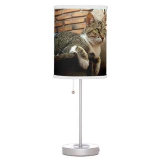 Lámpara de mesa de los amantes del gato