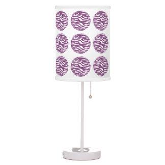Lámpara de mesa de los lunares del estampado de ze