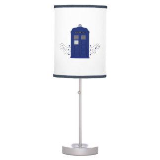 Lámpara de mesa de los remolinos de la caja de