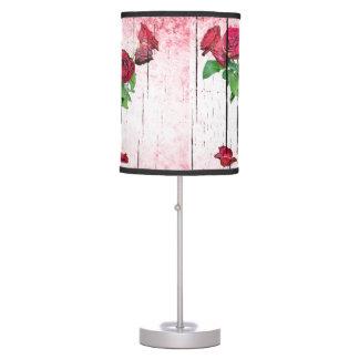 Lámpara de mesa de los rosas rojos