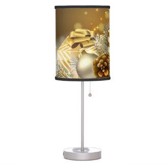 Lámpara de mesa de oro del navidad