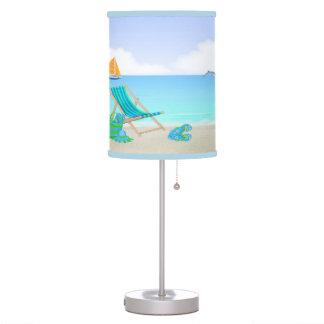 Lámpara de mesa de relajación de la playa