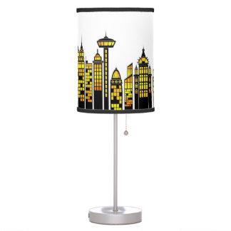 Lámpara de mesa de Scape de la ciudad