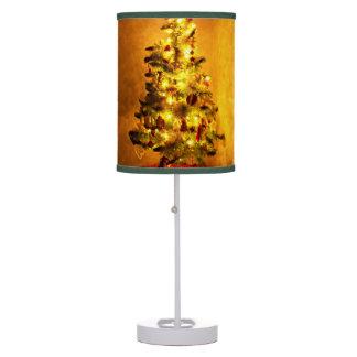 Lámpara de mesa del árbol de navidad del vintage