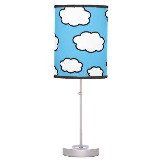 Lámpara de mesa del azul de la impresión de la