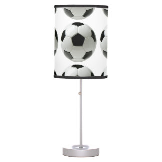 lámpara de mesa del balón de fútbol
