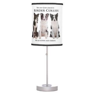Lámpara de mesa del border collie