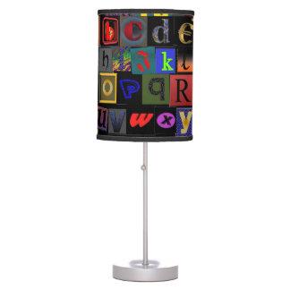 Lámpara de mesa del ~ del ALFABETO