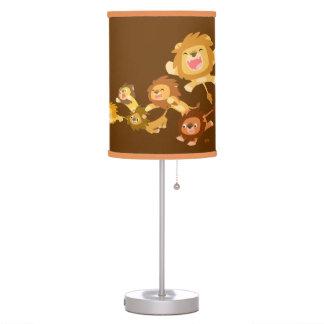 Lámpara de mesa del desfile de los leones lindos d