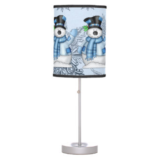Lámpara de mesa del día de fiesta del muñeco de ni