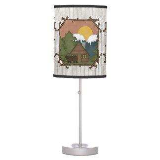 Lámpara de mesa del dibujo animado de la cabina de