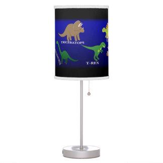 Lámpara de mesa del dinosaurio