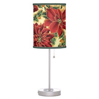 Lámpara de mesa del estampado de flores del navida