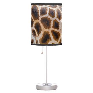 Lámpara de mesa del estampado de girafa