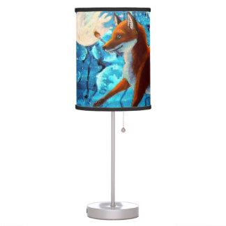 Lámpara de mesa del Fox rojo de la fantasía