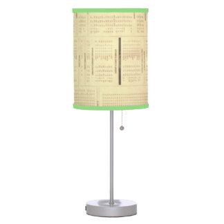 lámpara de mesa del lino de la impresión de las no