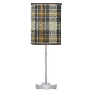 Lámpara de mesa del moreno del tartán