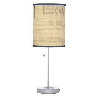 lámpara de mesa del papel prensa