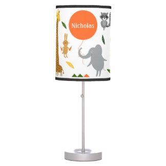 Lámpara de mesa del safari