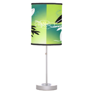 Lámpara de mesa del tema del tiempo de verano