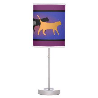 Lámpara de mesa del trío del gato