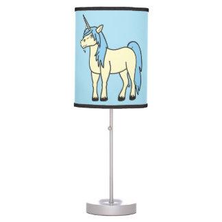 Lámpara de mesa del unicornio de los azules cielos