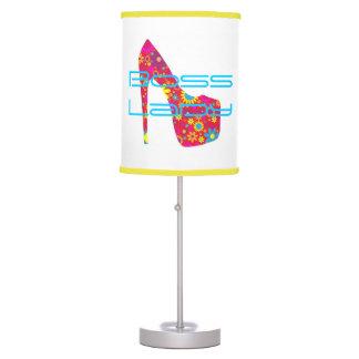 Lámpara de mesa del zapato del tacón alto de señor