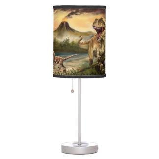 Lámpara de mesa despredadora de los dinosaurios