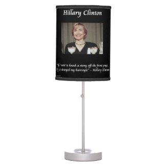 Lámpara de mesa divertida del peinado de Hillary C